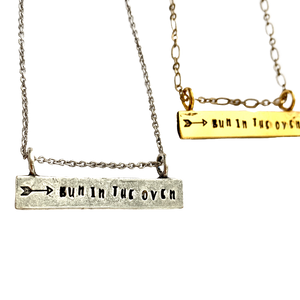 Bun in the Oven Bar Necklace