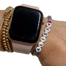 Load image into Gallery viewer, Be Bold Vulcanite Word Bracelet