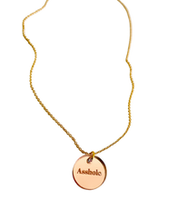 Load image into Gallery viewer, Asshole Rose Gold Acrylic Necklace