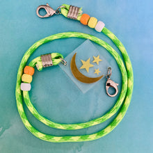 Load image into Gallery viewer, Moon and Stars Paracord Mask Chain Kids or Adults