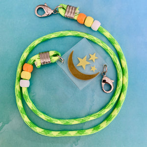 Moon and Stars Paracord Mask Chain Kids or Adults