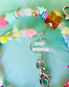 Stay Strong Happy Mask Chain