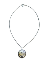 Load image into Gallery viewer, Moon and Star Diamond Locket Necklace