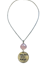 Load image into Gallery viewer, You Are My Happy Rose Quartz Necklace