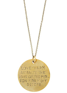 """Love Charm Attracts The Love Of The Person You Most Desire"" Rune Necklace"