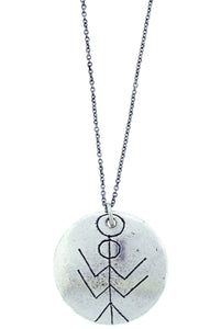 """Protection Power And Power"" Rune Necklace"