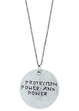 "Load image into Gallery viewer, ""Protection Power And Power"" Rune Necklace"