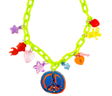 Load image into Gallery viewer, Charm-Tastic Peace Sign Necklace