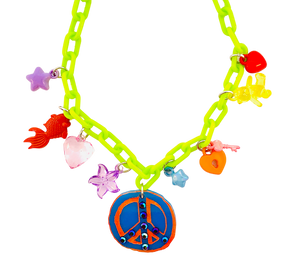 Charm-Tastic Peace Sign Necklace
