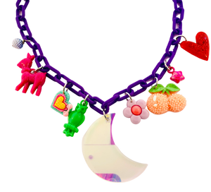 Charm-Tastic Iridescent Moon Necklace