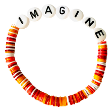 Load image into Gallery viewer, Imagine Vulcanite Word Bracelet