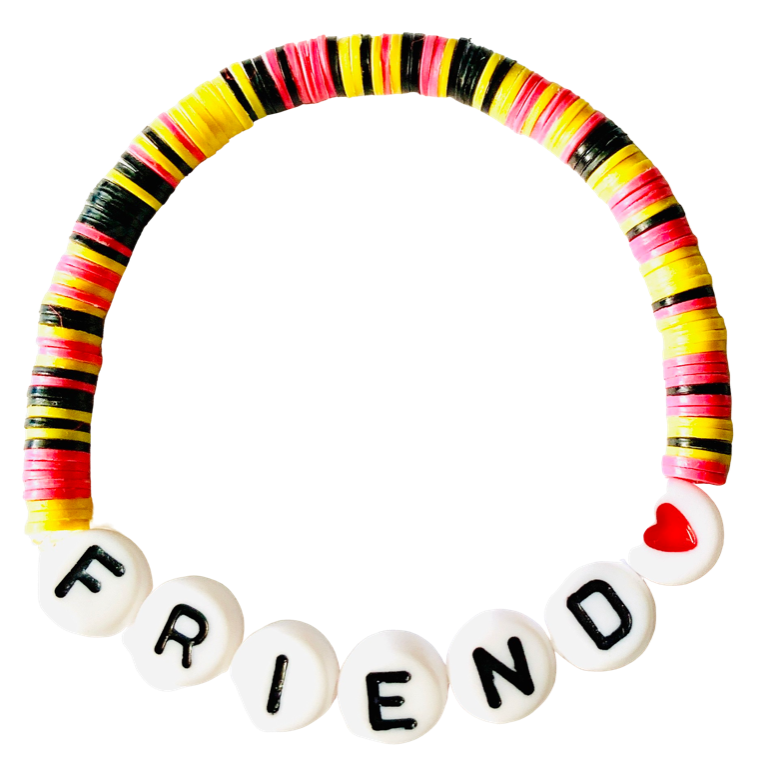 Friend Vulcanite Word Bracelet