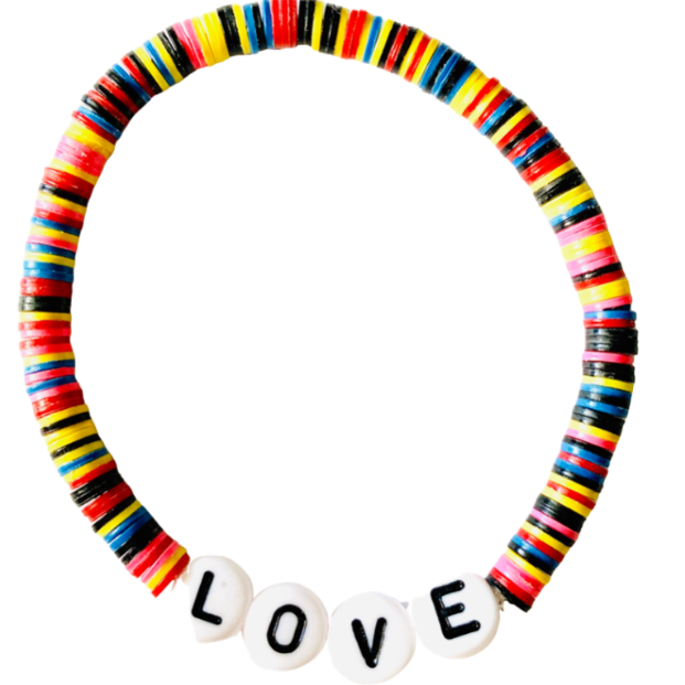 Love Vulcanite Word Bracelet