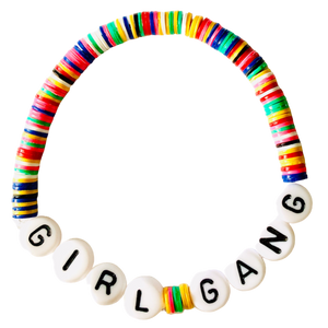 Girl Gang Vulcanite Word Bracelet