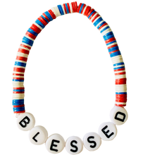 Load image into Gallery viewer, Blessed Vulcanite Word Bracelet