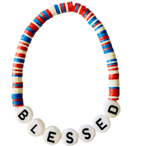 Blessed Vulcanite Word Bracelet