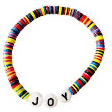 Load image into Gallery viewer, Joy Vulcanite Word Bracelet