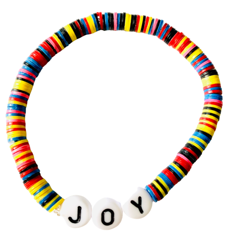 Joy Vulcanite Word Bracelet