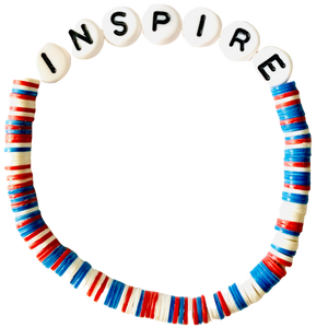 Imagine Vulcanite Word Bracelet