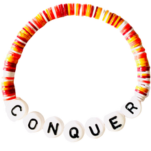 Load image into Gallery viewer, Conquer Vulcanite Word Bracelet