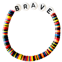 Load image into Gallery viewer, Brave Vulcanite Word Bracelet