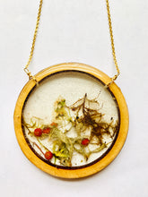 Load image into Gallery viewer, Large Wood Bezel Terrarium Necklace