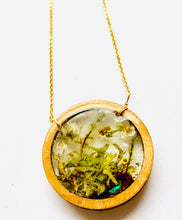 Load image into Gallery viewer, Wood Bezel Terrarium Resin Necklace
