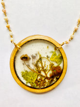 Load image into Gallery viewer, Pink Opal Wood Bezel Resin Terrarium Necklace