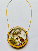 Load image into Gallery viewer, Wood Bezel Resin Terrarium Necklace