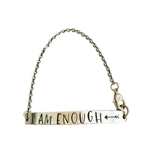 I Am Enough Half Cuff Bracelet