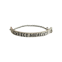 Load image into Gallery viewer, Expect Miracles Chain Cuff Bracelet