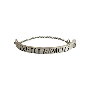 Expect Miracles Chain Cuff Bracelet