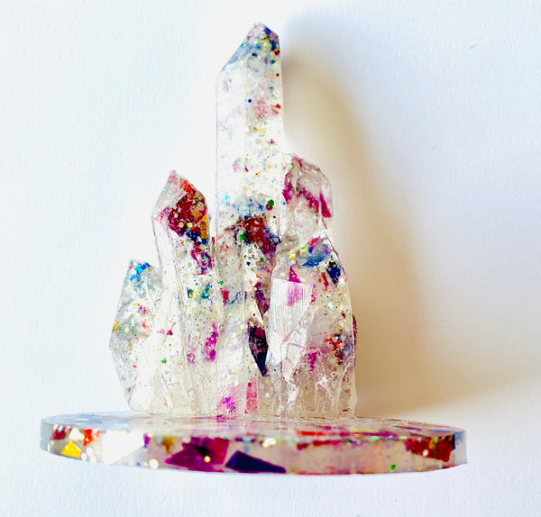 Confetti Resin Crystal Ring Holder