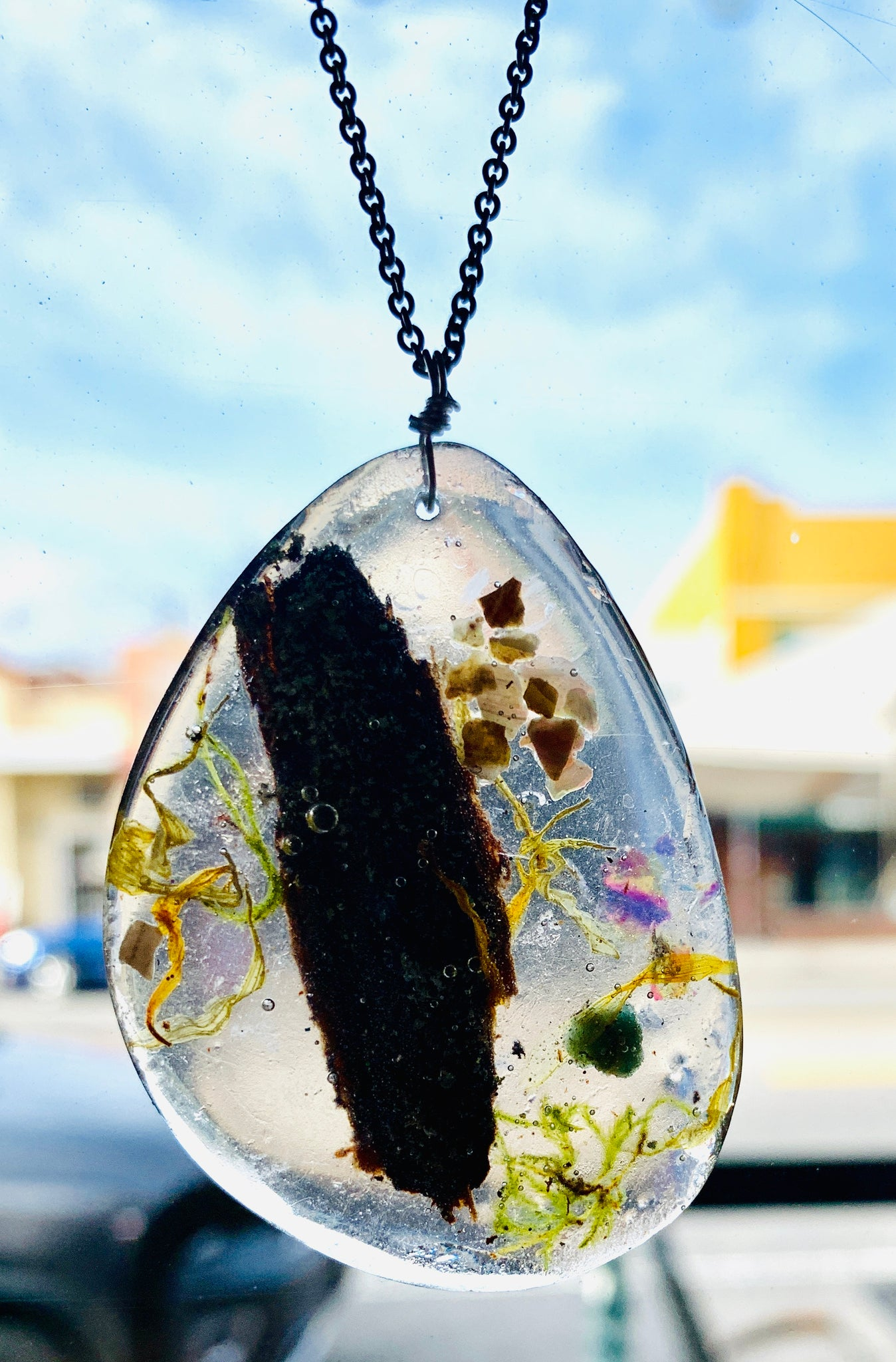 One Of A Kind Healing Resin Terrarium Necklace Alisa Michelle