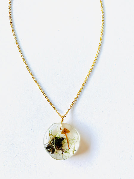 One of a Kind Terrarium Resin Necklace