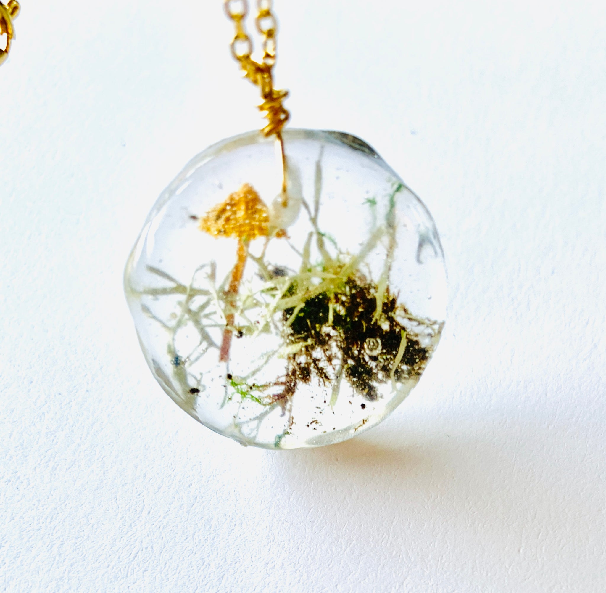 One Of A Kind Terrarium Resin Necklace Alisa Michelle