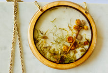 Load image into Gallery viewer, Large Wood Bezel Resin Terrarium Pendant
