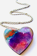 Load image into Gallery viewer, Large Alcohol Ink Resin Necklace