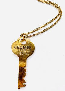 BELIEVE KEY NECKLACE