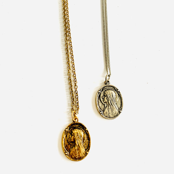 Religious Medal Charm Necklace