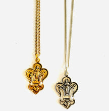 Load image into Gallery viewer, Fleur De Lis Religious Medal Necklace
