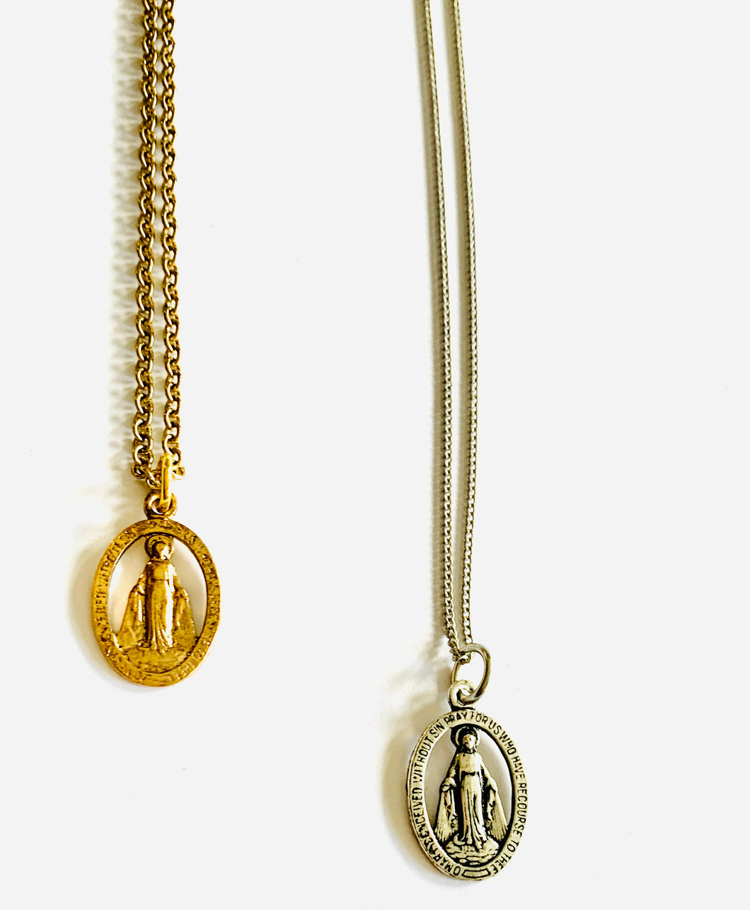 Dainty Religious Medal Necklace