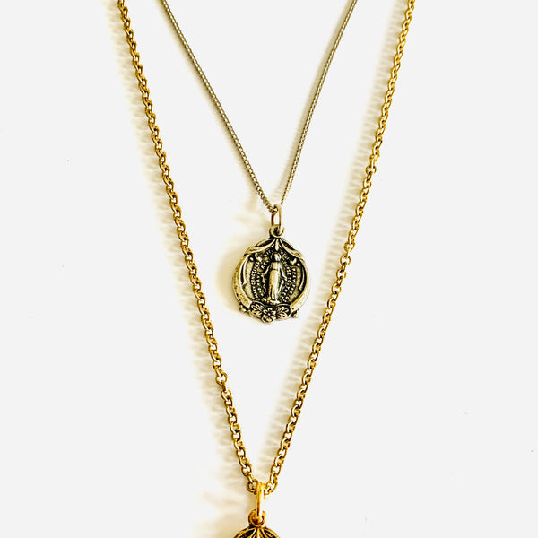Religious Medal Necklace