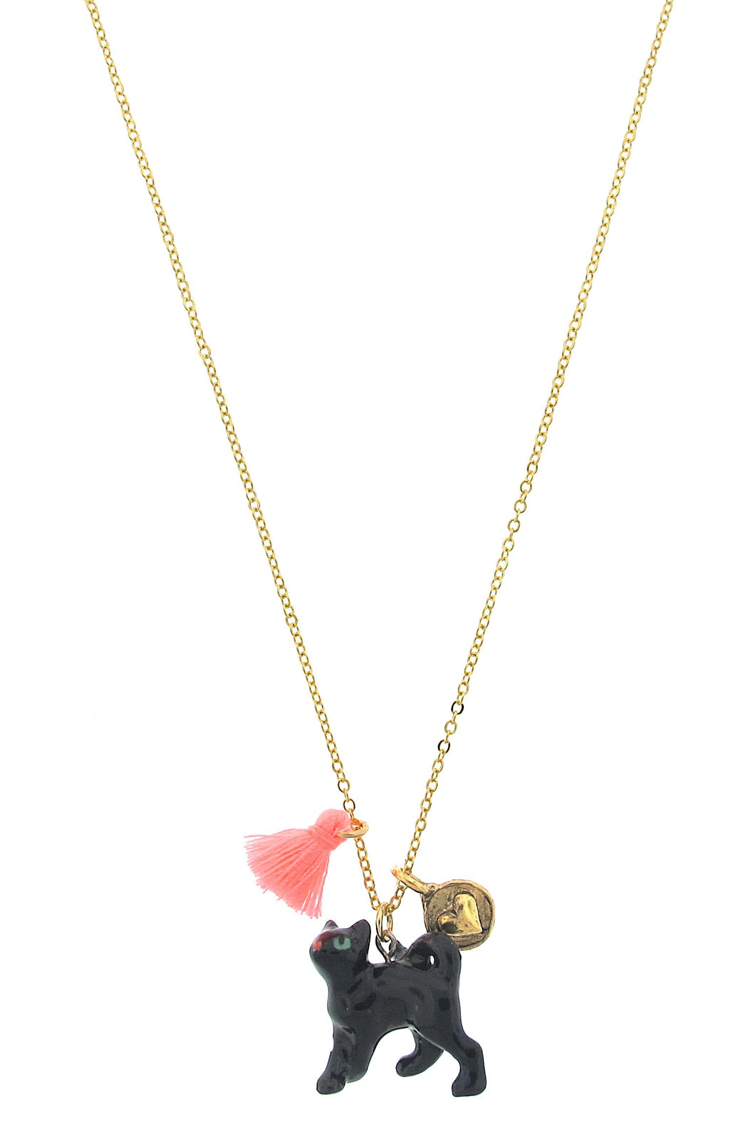 Black Cat Lil' Critters Necklace