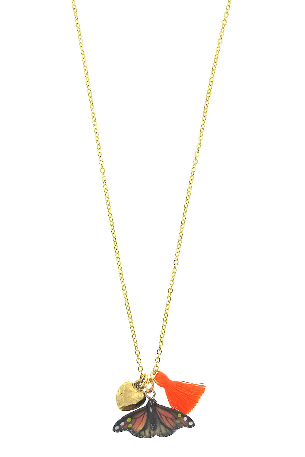 Orange Butterfly Lil' Critters Necklace