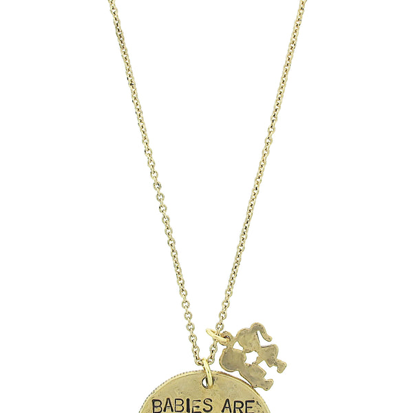 'Babies Are Such A Nice Way To Start People' Necklace