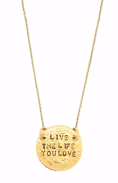 'Love the Life You Live/Live the Life You Love' Double-Sided Necklace