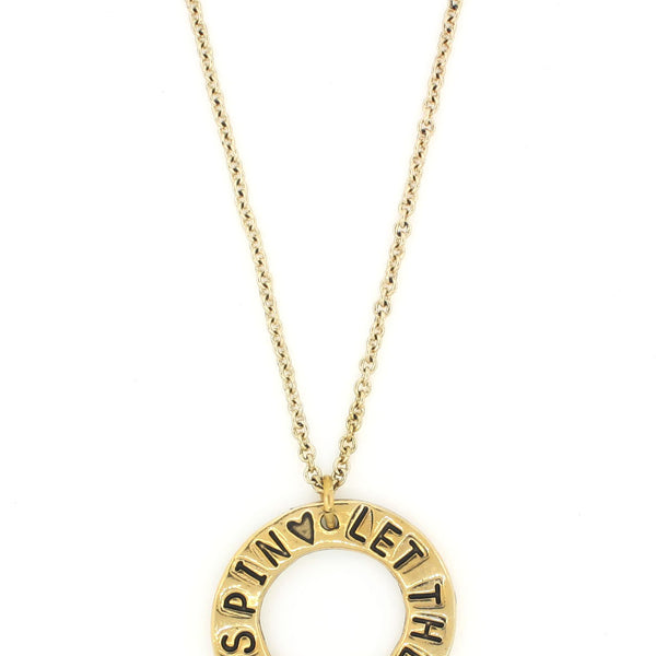 'Let the World Spin ♡' Open Circle Necklace
