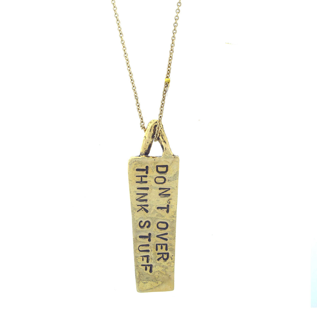 Keep it Simple Hand Stamped Necklace