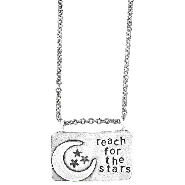 'Reach For The Stars' Hand Stamped Necklace